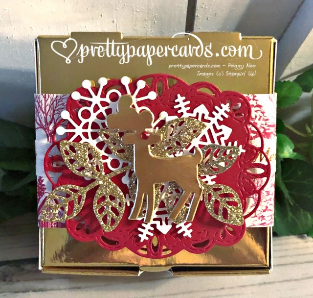 Stampin' Up! Holiday Gold Mini Pizza Box - Peggy Noe - stampinup