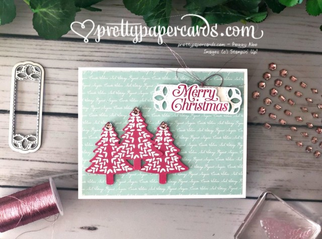Stampin' Up! Perfectly Plaid Card - Pretty Paper Cards - stampinup