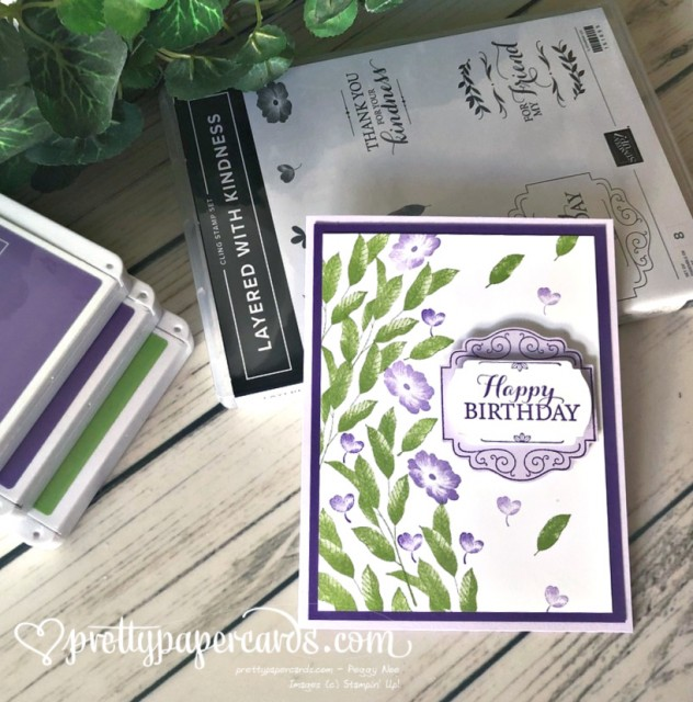 Birthday Card Layered with Kindness Peggy Noe