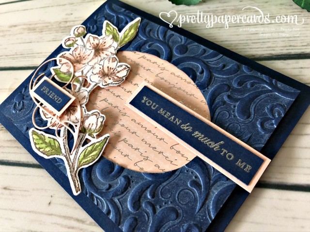 Stampin' Up! Forever Blossoms Navy Card - Peggy Noe - stampinup