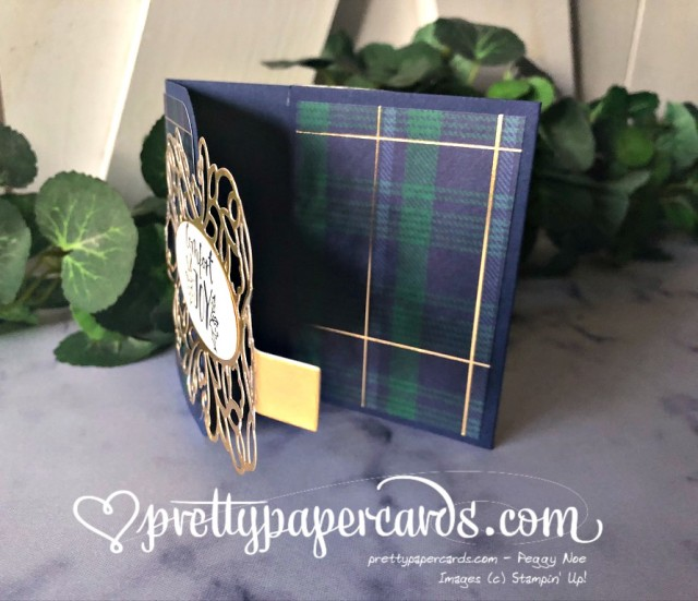 Christmas Gift Card Holder Plaid Pretty Paper Cards