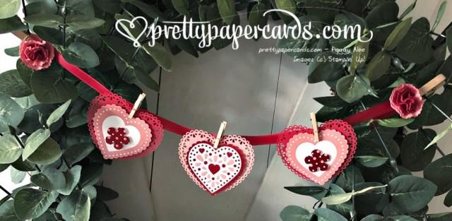 Handmade Valentine Banner by Peggy Noe