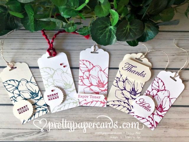 Magnolia Tags - Peggy Noe - Stampin' Up!