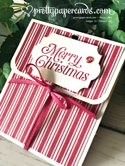 Stampin' Up! Christmas Gift Card Holder created by Peggy Noe