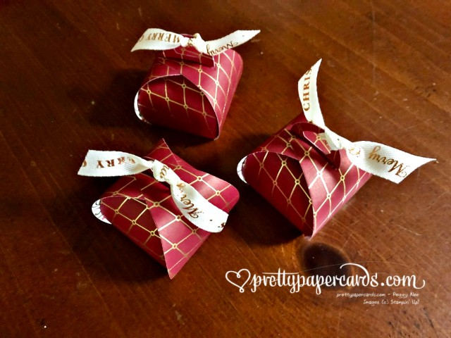 Stampin' Up! Christmas Tiny Treat Boxes by Peggy Noe