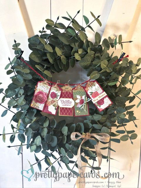 Stampin' Up! Christmas Wreath - Peggy Noe - stampinup