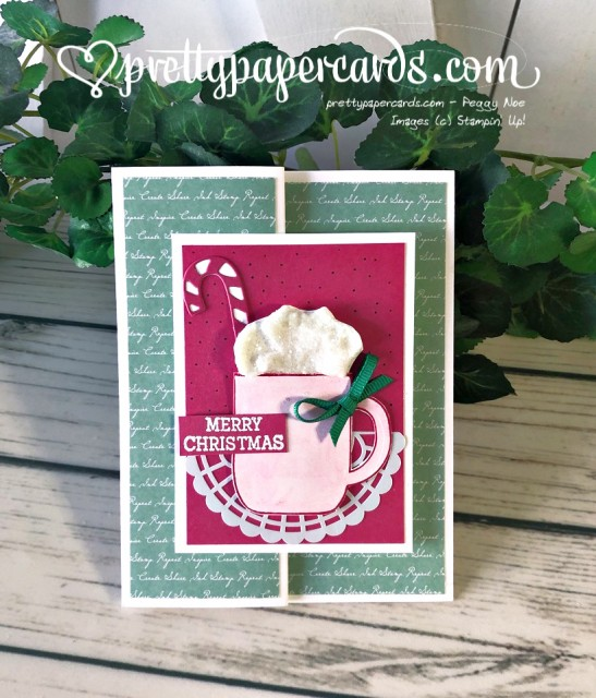 Stampin' Up! Cup of Christmas Fancy Fold - Peggy Noe