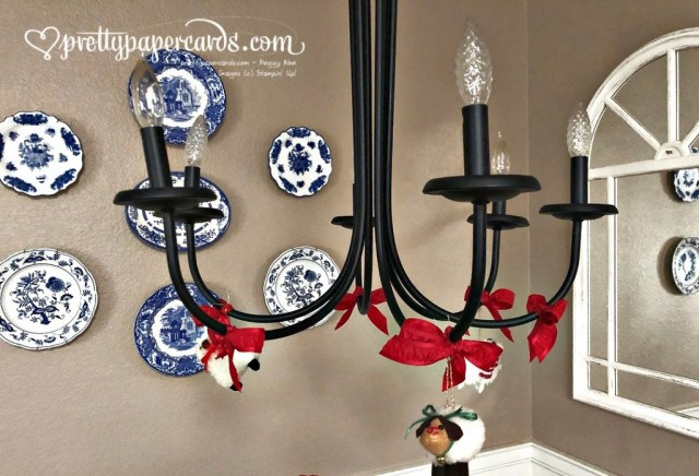 Stampin' Up! Decorated Chandelier by Peggy Noe