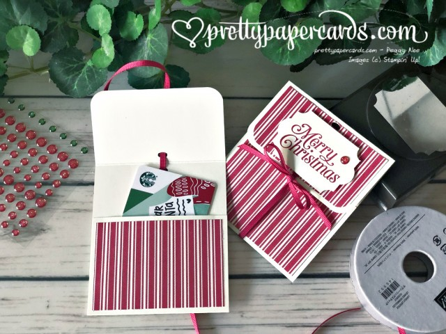 Stampin' Up! Holiday Gift Card Holder created by Peggy Noe