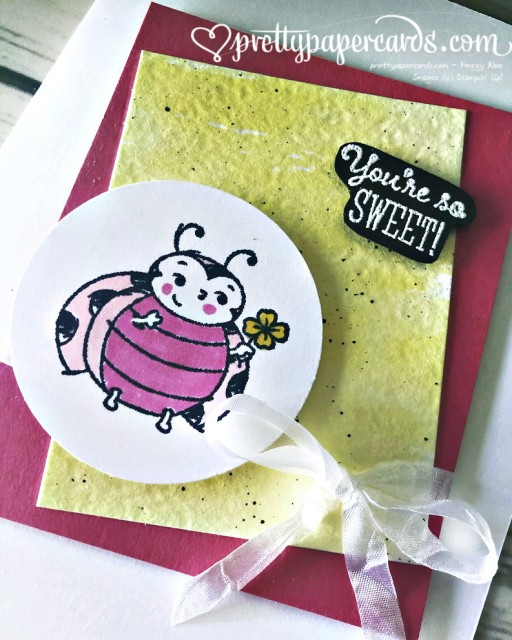 Stampin' Up! Little Ladybug Card - Peggy Noe (1)