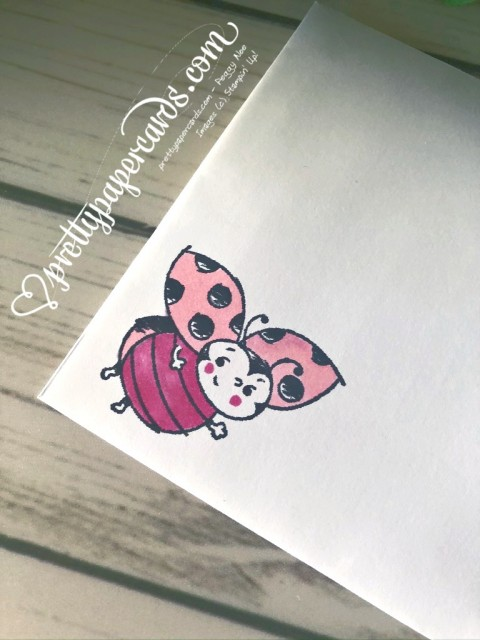 Stampin' Up! Little Ladybug Envelope - Peggy Noe
