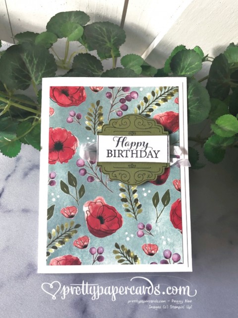 Stampin' Up! Peaceful Poppies - Peggy Noe