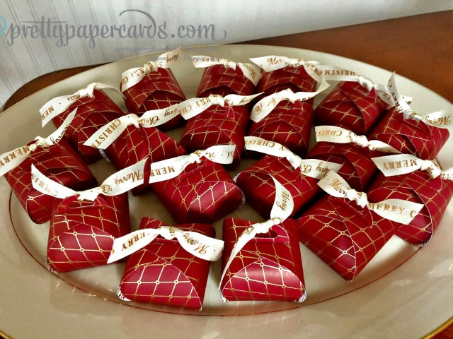 Stampin' Up! Platter of Tiny Treat Boxes by Peggy Noe