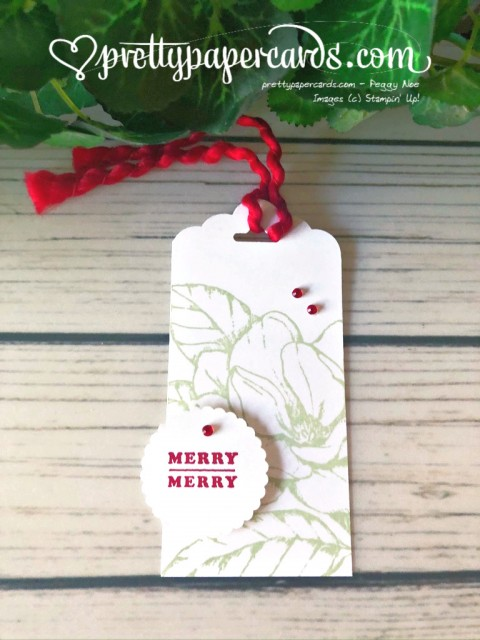 Holiday Gift Tag Stampin' Up! Peggy Noe