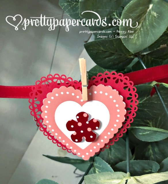 Valenitine Paper Heart with Doily by Peggy Noe