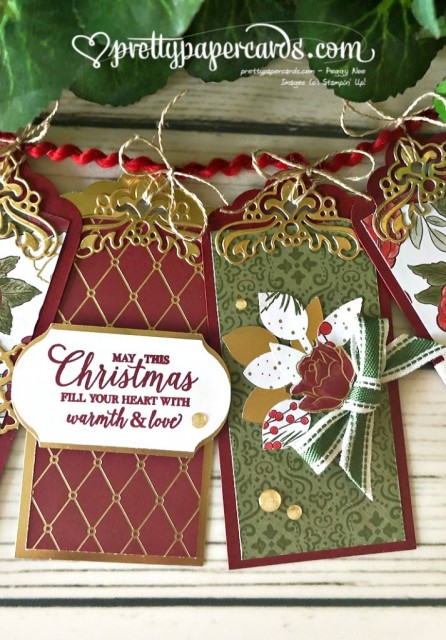 Stampin' Up! Christmas Tags - Pretty Paper Cards - stampinup