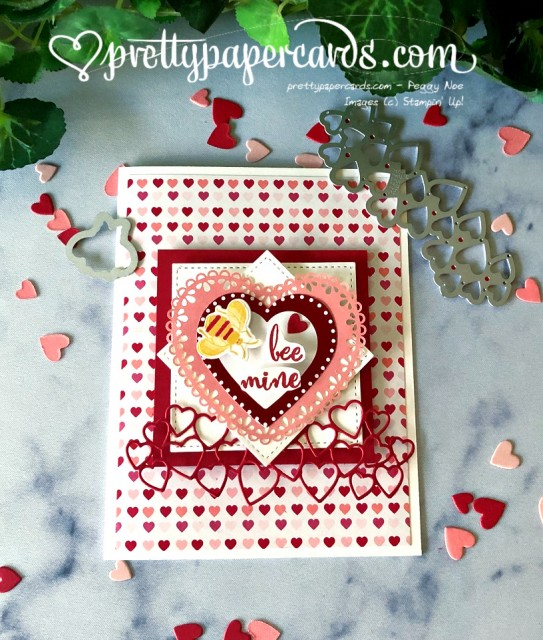 From My Heart Valentine Card by Peggy Noe