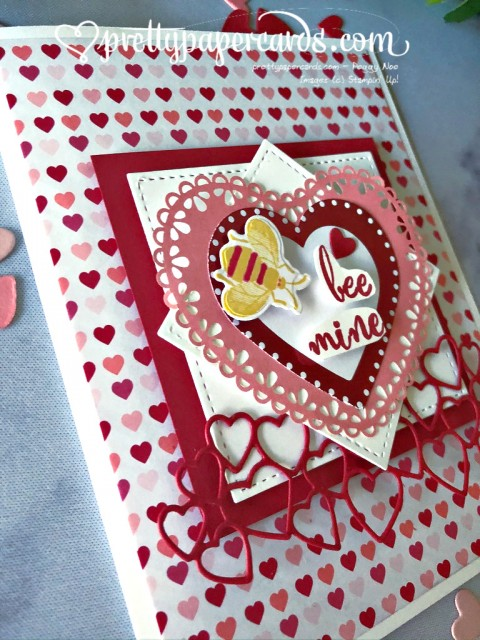 Hearts and Bees Valentine by Peggy Noe