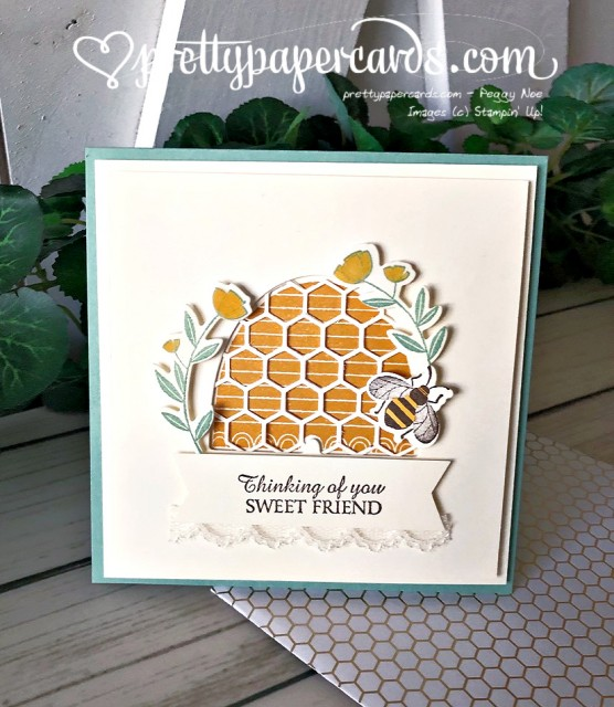 Honey Bee Card Stampin' Up! by Peggy Noe