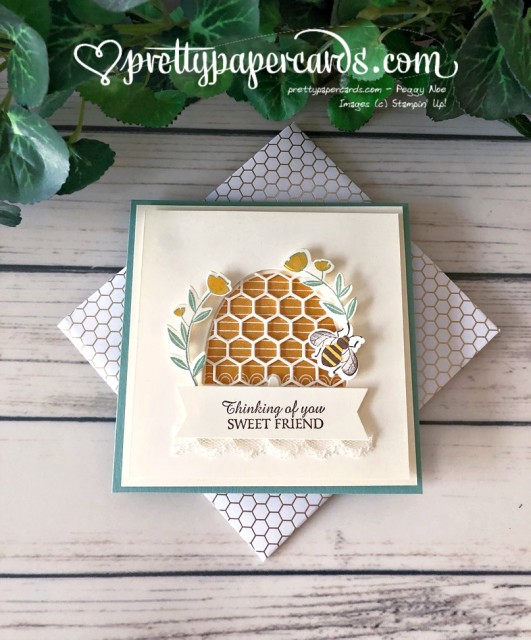 Honey Bee Card Stampin' Up! by Pretty Paper Cards
