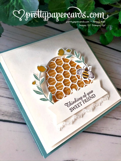 Honey Bee Friend Card Stampin' Up! by Peggy Noe