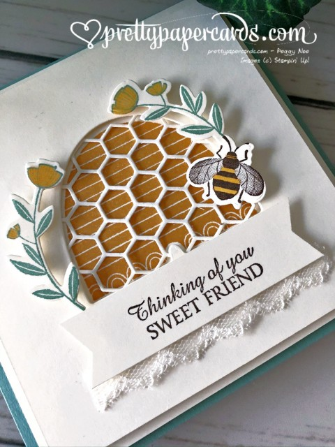 Honey Bee Friend Card Stampin' Up! by Pretty Paper Cards