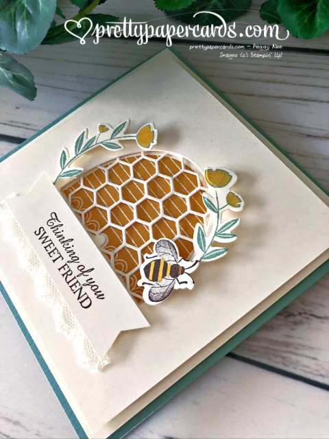 Honey Bee Sweet Friend Card Stampin' Up! Peggy Noe