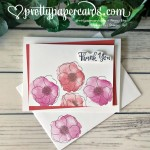 Painted Poppies Thank You Card by Peggy Noe