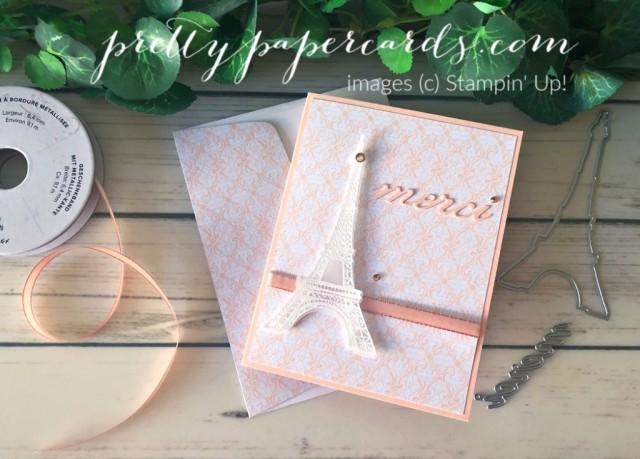 Parisian Beauty Bundle Merci Card by Peggy Noe