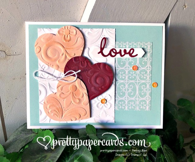 Parisian Blossoms Heart Stampin' Up! Peggy Noe