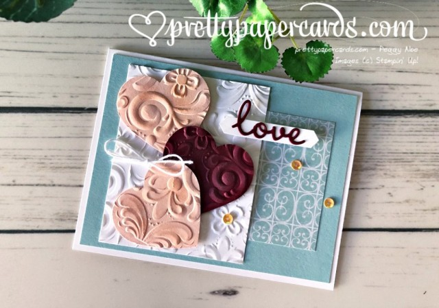 Parisian Heart Valentine Stampin' Up! Pretty Paper Cards
