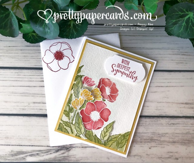 Peaceful Poppies Sympathy Stampin' Up! Peggy Noe