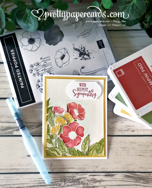 Peaceful Poppies Sympathy Stampin' Up! Pretty Paper Cards