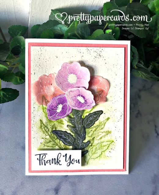 Stampin' Up! Poppies Thank You by Pretty Paper Cards