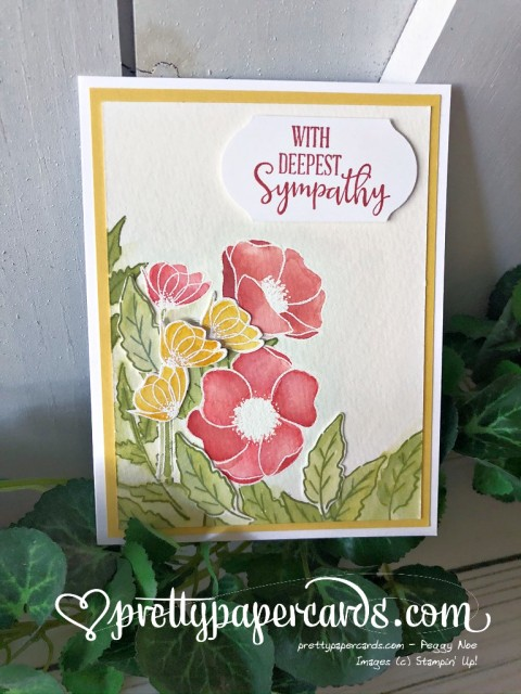 Sympathy Card Peaceful Poppies by Peggy Noe