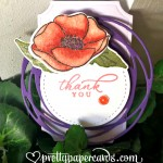 Thank You Tag Painted Poppies Stampin