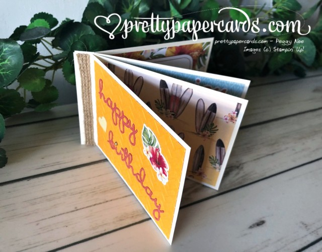 Tropical Oasis Birthday Stampin' Up! by Pretty Paper Cards