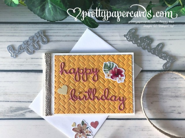 Tropical Oasis Birthday stampinup by Pretty Paper Cards