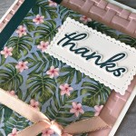 Tropical Oasis Thank You Card by Pretty Paper Cards