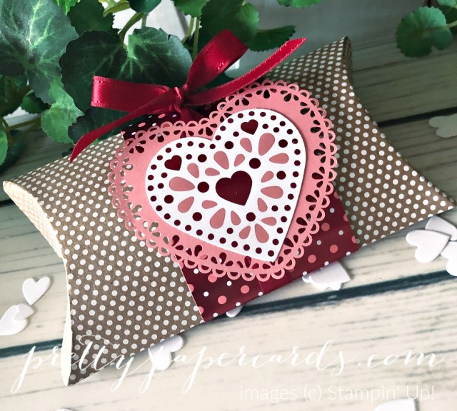 Valentine Pillowbox Stampin' Up! by Peggy Noe