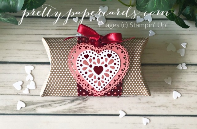 Valentine Pillowbox Stampin' Up! by Pretty Paper Cards