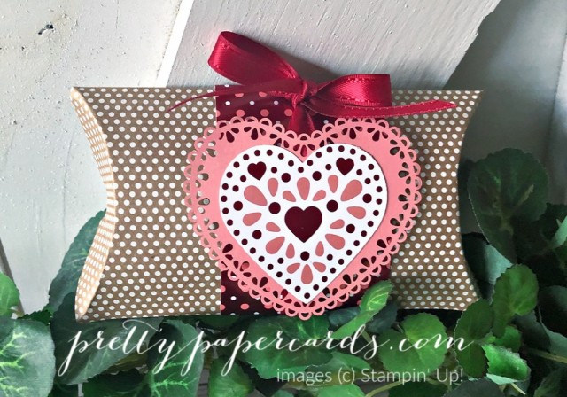 Valentine Stampin' Up! Pillowbox by Peggy Noe