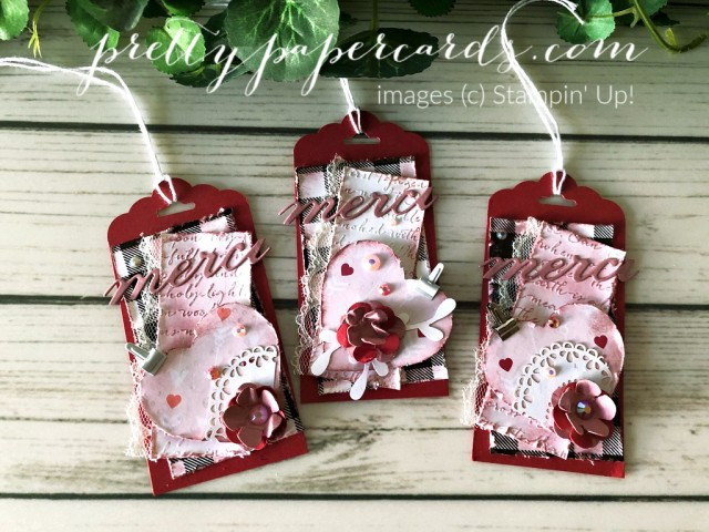 Vintage Valentine Tags by Peggy Noe
