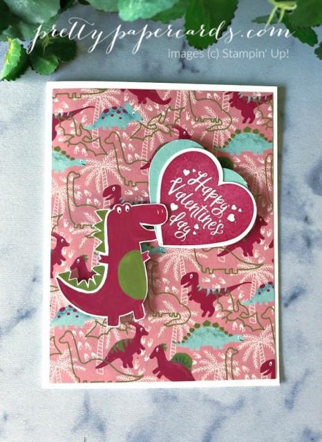 Dinoraur Valentine Stampin' Up! by Peggy Noe