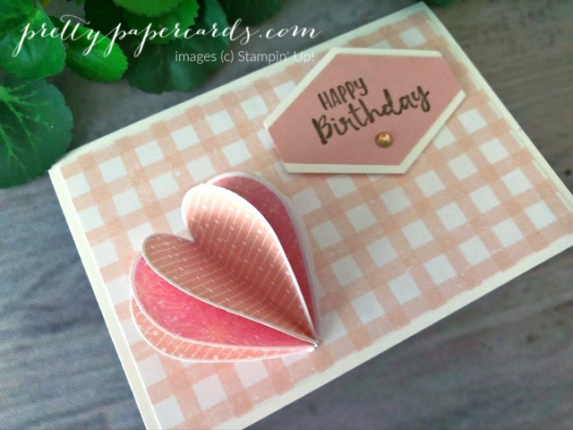 Happy Birthday Heart Card by Pretty Paper Cards