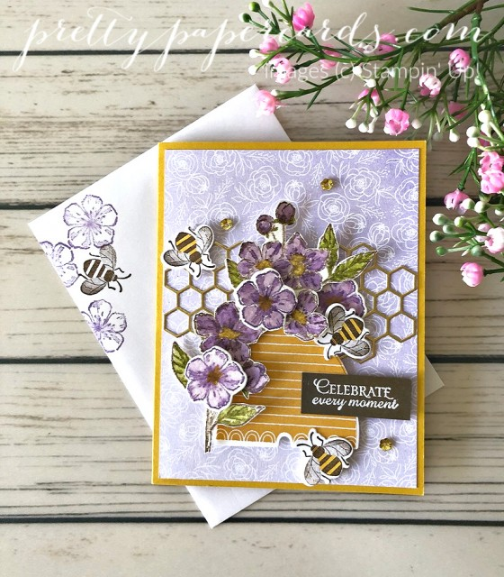 Honey Bee Card Stampin' Up! Pretty Paper Cards
