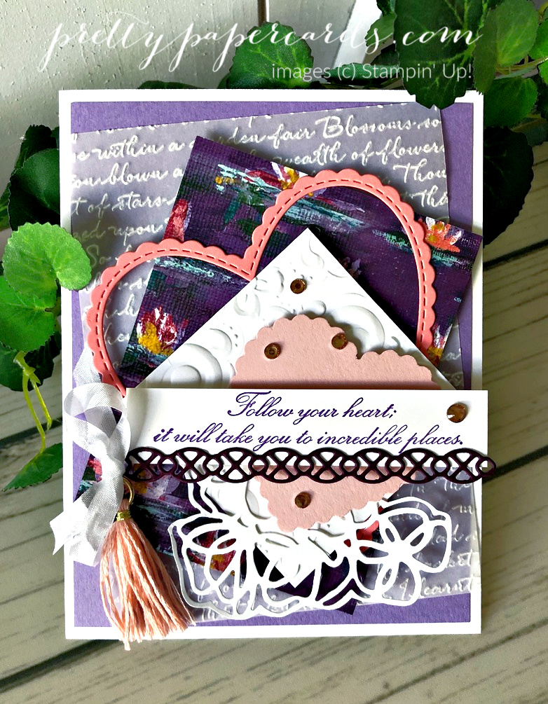 Handmade card using the Parisian Beauty stamp set by Stampin\' Up! and featuring the \