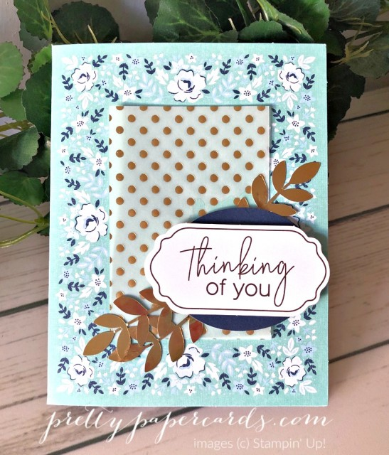 Kerchief Thinking of You Card Stampin' Up! by Peggy Noe