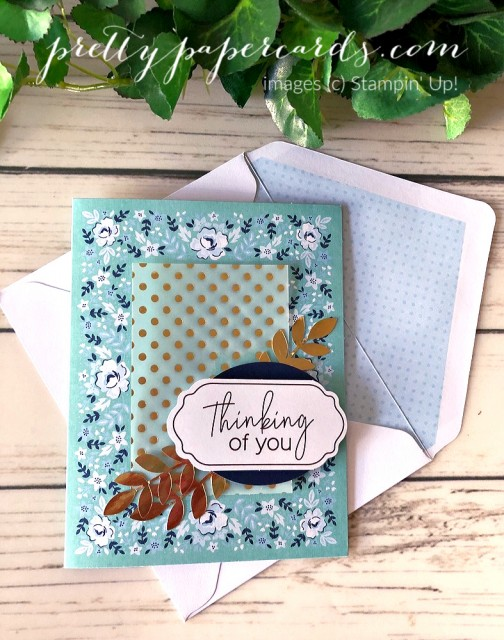Kerchief Thinking of You Card Stampin' Up! by Pretty Paper Cards