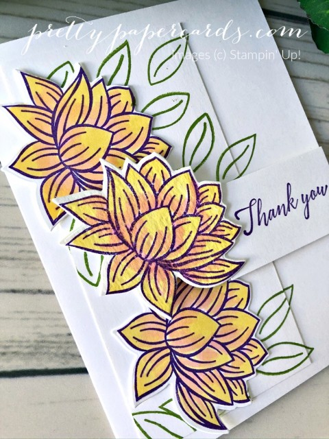 Lily Pad Card Stampin' Up! Peggy Noe